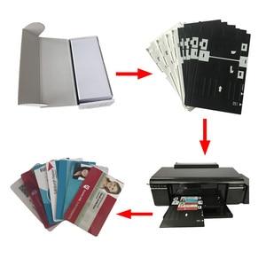 Image 5 - Bonne qualité jet dencre PVC carte brillant deux côtés imprimable carte PVC vierge pour Epson ou Canon 230 pièces/lot