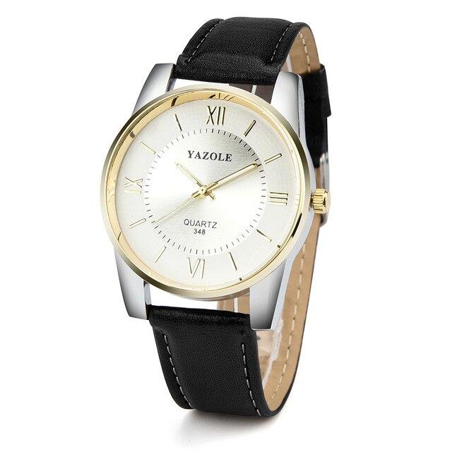 78efbd83834 YAZOLE Luxo Relógio dos homens de aço Inoxidável Pulseira De Couro  Analógico de Pulso de Quartzo