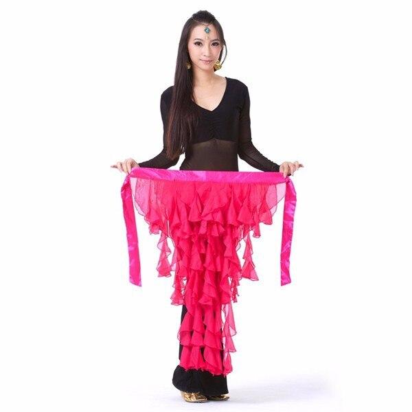 New Belly Dance Dancing Belt Performance Tassel Wave Hip Scarf Belt Skirt