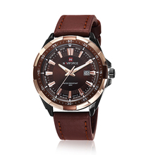 NAVIFORCE Men's Watch Sport Watches Waterproof erkekkol saati Leather Quartz Wrist Watch Man military Clock Relogio Masculino