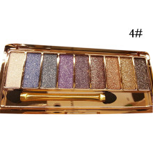 9 Colors Makeup Palette Bright Shining Eye Shadow Flash Sexy Glitter Make Up Set With Brush