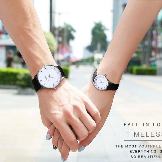 Vansvar Brand Fashion Lovers Simple Watch Casual Leather Strap Women Wristwatche
