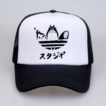Design harajuku hat Cartoon Totoro Spirited Away Baseball Caps No Face Faceless Man snapback hats Women Anime mesh trucker cap