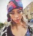 Hbk 2016 new cat eye marca designer óculos de sol das mulheres do sexo feminino moda Senhora Óculos de Sol de Metal Moldura De Ouro Óculos Retro Claras lente