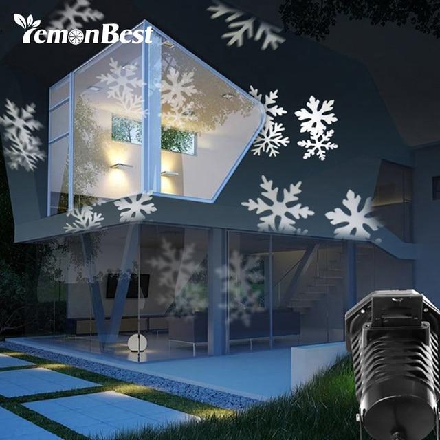 fd8b57ee666 10 Patrones de 6 W Proyector LED RGB Luz del Copo de nieve de Navidad La  Decoración de Navidad Luces ...