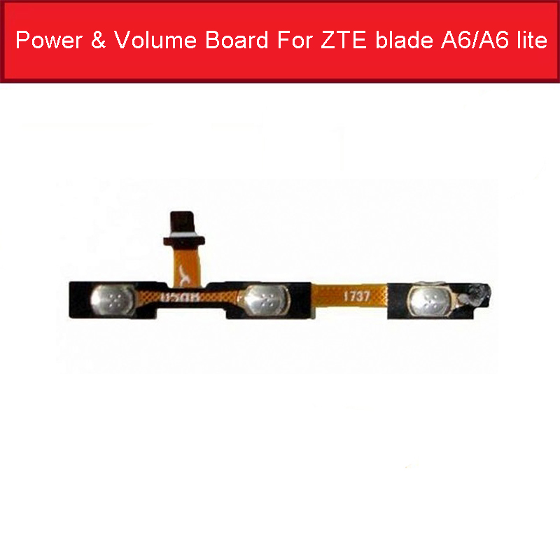 Genuine Power & Volume Flex Cable For ZTE Blade A6/A6 Lite A0620 A0622 Volume Power Side Button Switch Accessory Parts