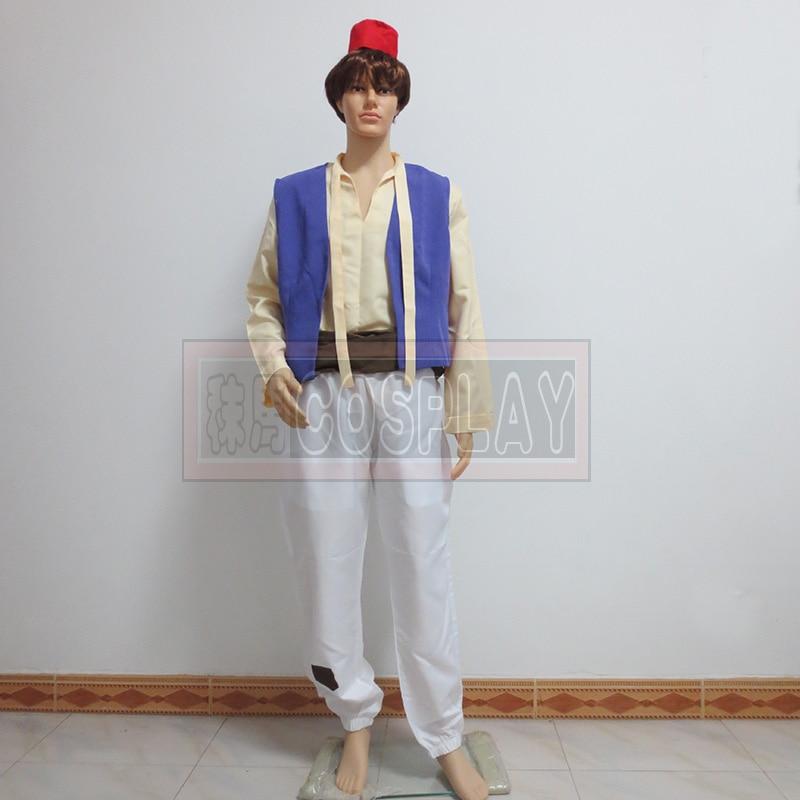 Custom Made Aladdin Lamp Prince Aladdin Costume For Adult Man Dance Party Movie Cosplay Costume