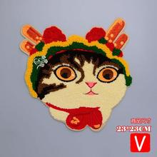 embroidery big chenille cats patches for jackets,animal badges applique clothing A621