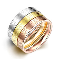 3 Pcs/Sets Roman Numerals Brand Finger Rings Stainless Steel Bridal Ring For Women New C396