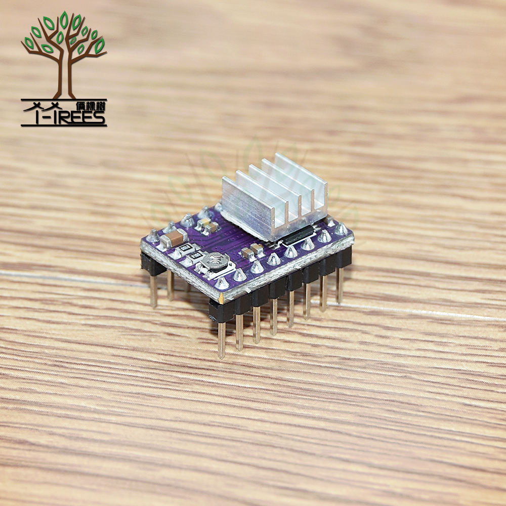 10pcs.3D Printer StepStick DRV 8825 DRV8825 Stepper Motor Driver Module Carrier Reprap 4-layer 4 layer PCB RAMPS 1.4 + Heatsink цена