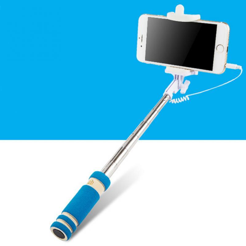 100% QualitäT Tragbare Mini Folding Handy Verdrahtet Selfie Sticks Für Iphone Samsung Eingebauter Shutter Kamera Einbeinstativ Stativ Verschiedene Stile
