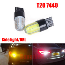 Dongzhen 2X T20 7440 W21W 8W COB Bulb LED SideLight Daytime Running Light DRL Lamp Auto fit for Ford BMW KIA Chevrolet Audi