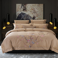 4/6Pcs luxury Egypt Cotton plum blossom Bedding Set embroidery Duvet cover set Bed Sheet Pillowcases Queen King Size bed linen