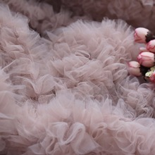 Ruffle Fabric Couture-Dress Wedding-Prop Pink Nude 3D Backdrop Photography-Prop Haute