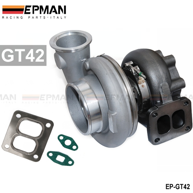 High Performance turbocharger GT42 comp a/r .60 turbine 1.05 a/r T4 6 bolt turbo charger EP-GT42