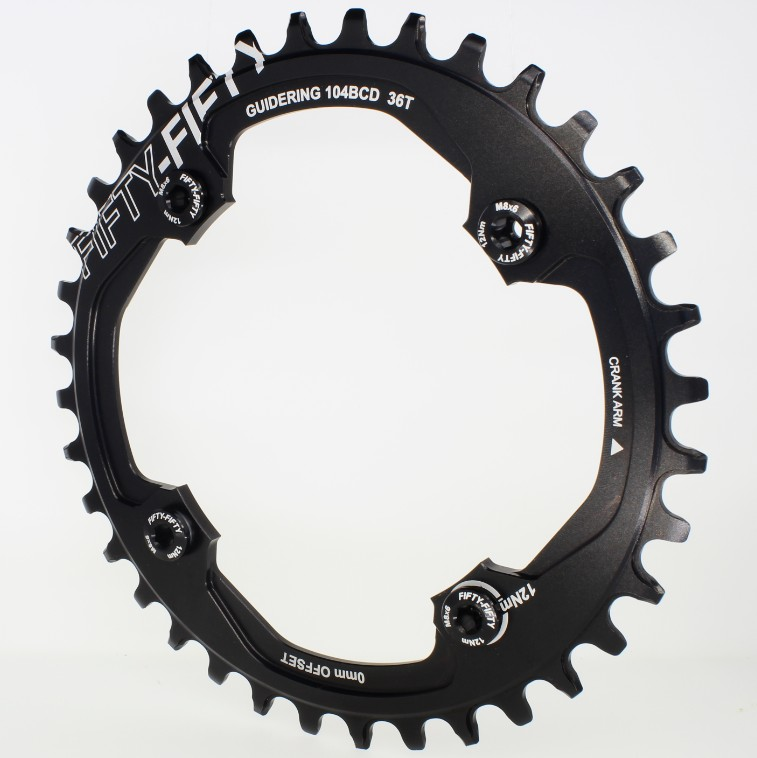 FIFTY-FIFTY 7075T6 CNC mtb Chain Ring 104BCD 32T34T36T/9S 10S 11S MTB bike bicycle crank chainring tooth Disc / chain ring aluminum alloy bicycle crank chain wheel mountain bike inner bearing crank fluted disc mtb 104bcd bike part
