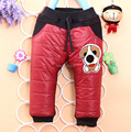 Retail New 2015 Baby's Winter Bottoms Baby Girls Pants Babies Warm Full Length Cartoon Dog Pants Baby Boys Bottom Wear