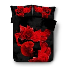 3D Red Rose Bedding set Luxury sheets quilt duvet cover bed in a bag sheet linen Cal Super King queen size full twin double 4PCS 3d floral bedding set luxury cal king queen size leopard sheets quilt duvet cover bed in a bag sheet linen full twin double 4pcs