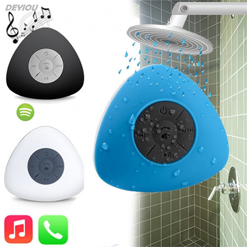 DEYIOU 2017fashion Waterproof Wireless Bluetooth Sucker Shower Speaker Portable rechargeable with 3D Stereo Music Surround