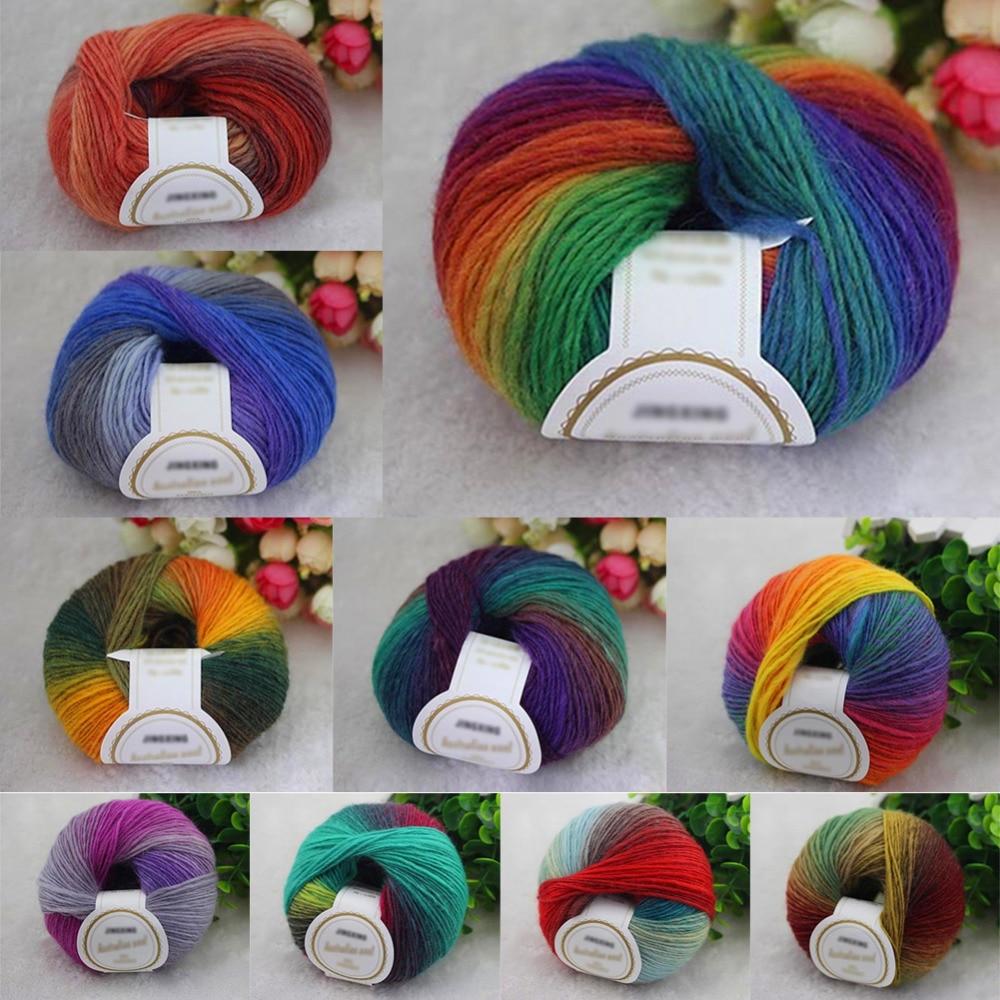 1ballx50g fashion hand woven woolen knitting skeins for Craft with woolen thread