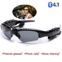 Polarized glasses sunglasses with wireless Bluetooth 4.1 earphone Stereo Music Phone Call for driving outdoor travelling