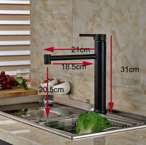 360 Degree Oil Rubbed Broze Kitchen Faucet One Hole Tap Mixer Faucet Deck Mount
