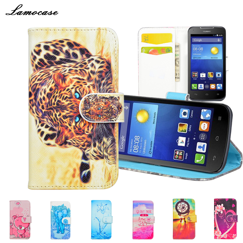 Priting Wallet Stand PU Leather Case For Huawei Ascend Y540 Flip ...