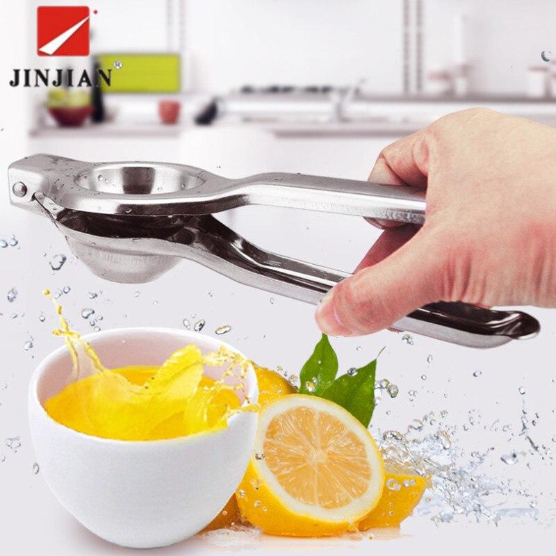 JINJIAN Küche Tools Lemon Squeezer Edelstahl Orange Entsafter Obst Saft Reibahlen Schnelle Griff Drücken Multifunktionale Werkzeug