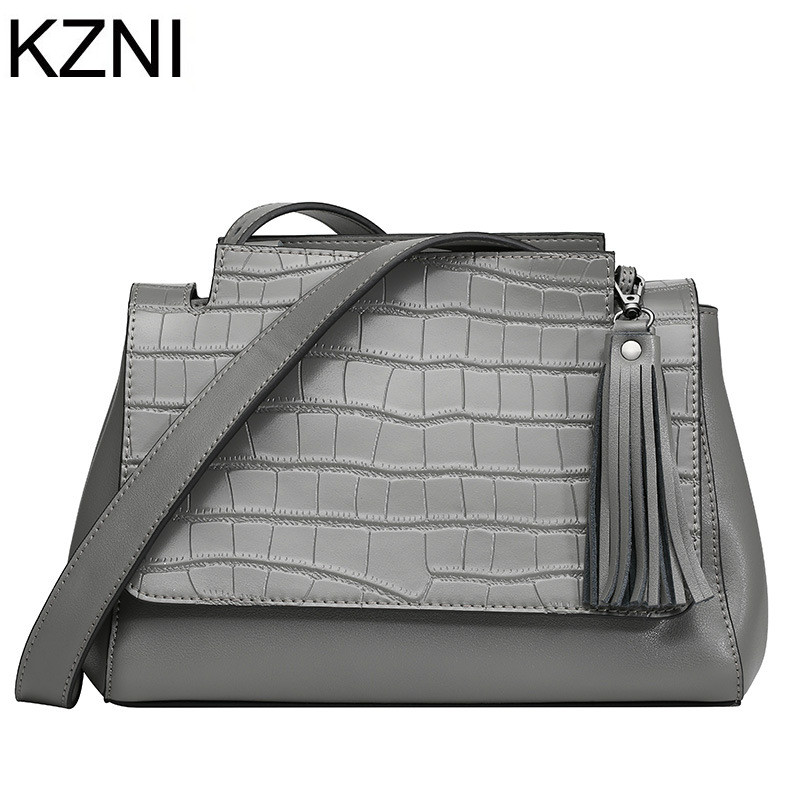KZNI women genuine leather handbags luxury handbags women bags designer crossbody bags for women bolsas femininas L121150
