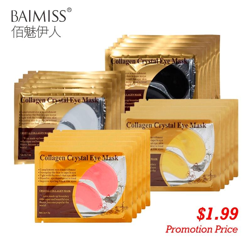 Baimiss 5 пар = 10 шт. 24 К золото Сыворотки маска для глаз антивозрастной Anti Wrinkle удалить темный круг коллаген глаз Нашивки Уход за кожей крем