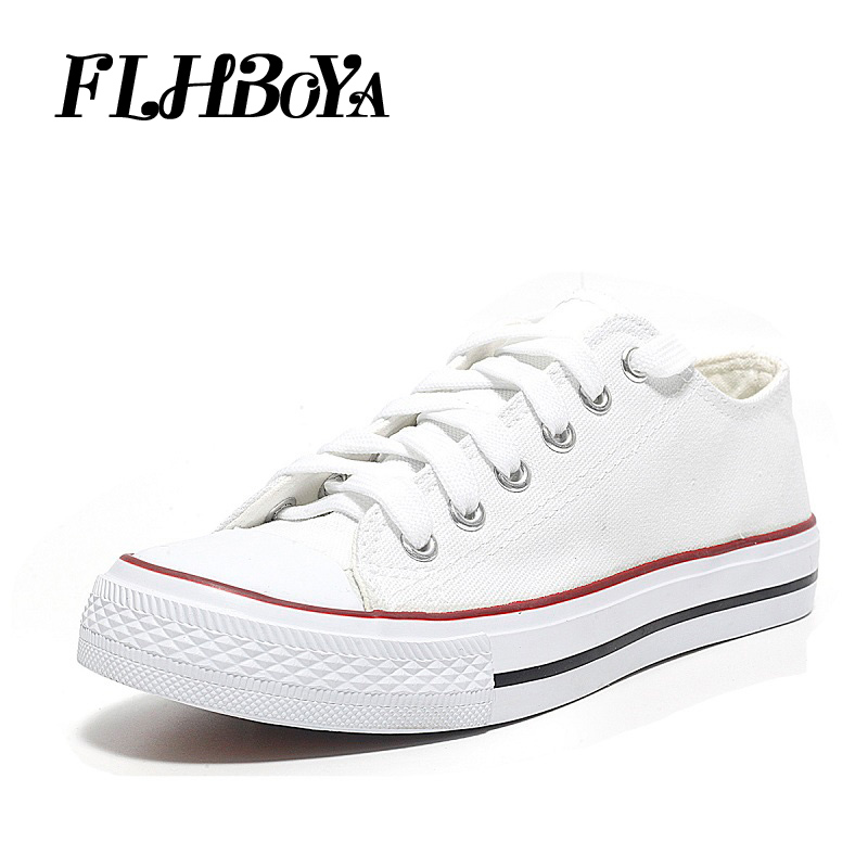 Fashion Women Vulcanize Flat Shoes For Ladies Black White Red Lace up Casual Canvas Flats Breathable Woman Shoe Tenis sneakers e lov women casual walking shoes graffiti aries horoscope canvas shoe low top flat oxford shoes for couples lovers