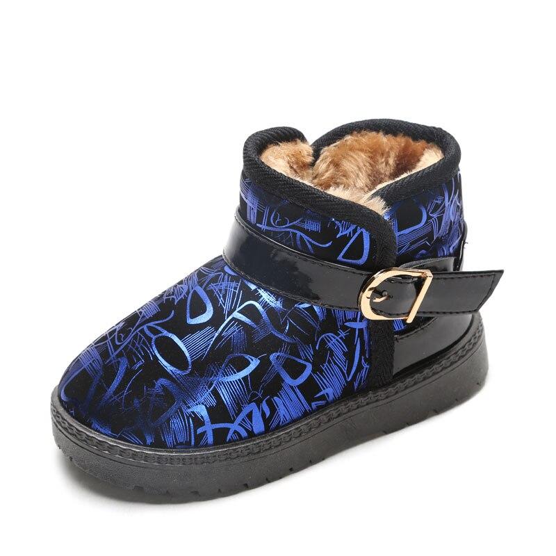 2018 детские зимние сапоги для маленьких мальчиков и девочек детская одежда сапоги прилив дикий натуральная кожа зимняя обувь из хлопка N237