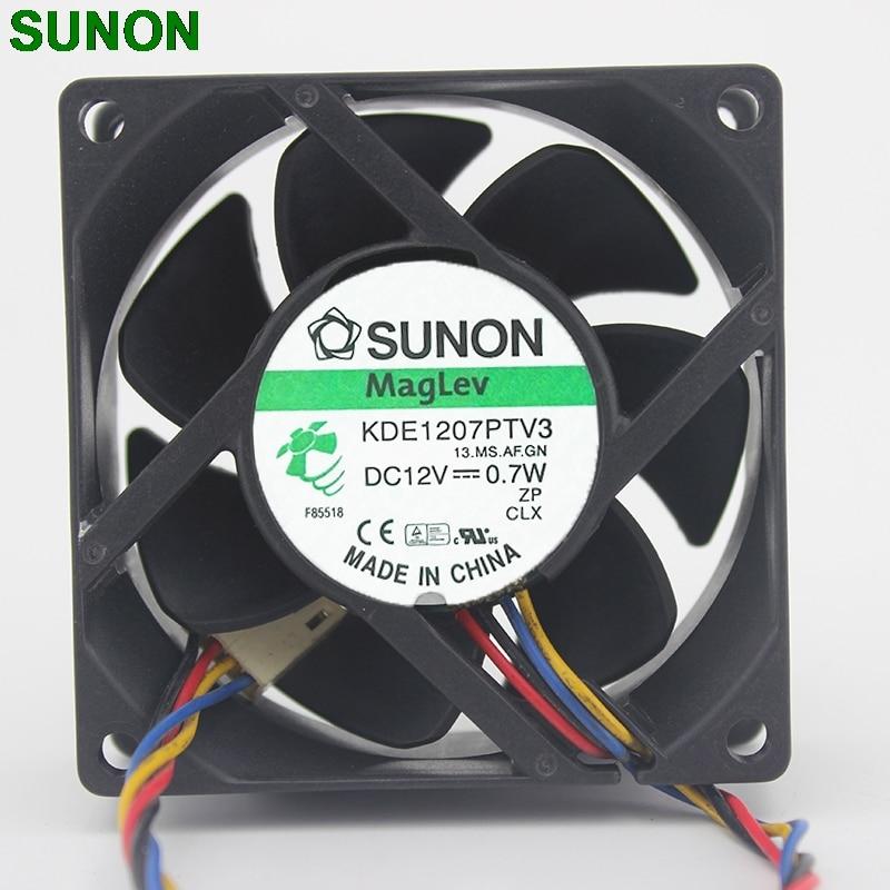SUNON 7025 12V 0.7W KDE1207PTV3 Server Cooling Fan 70mm