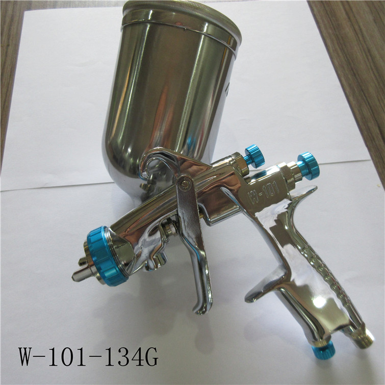 free shipping, W101 spray gun,W-101 painting gun,HVLP manual gun,gravity feed type,car painting,good atomization, with cup