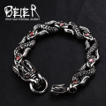 Beier 316L Stainless Steel bracelet punk dragon celet For  Punk Biker Accessories Men's Jewelry BC8-017
