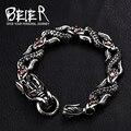Beier celet para punk biker aço inoxidável 316l pulseira punk dragão dos homens acessórios de jóias bc8-017