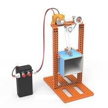 цена на STEM Building Blocks Science Toy DIY Elevator Children Educational Science Toys Kit Learning Education Toys for Children C