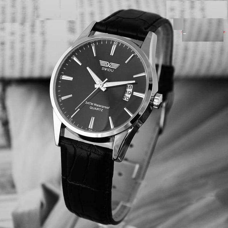 luxury brand quartz watch Casual Fashion Leather watches reloj masculino men watch free shipping Sports Wristwatch