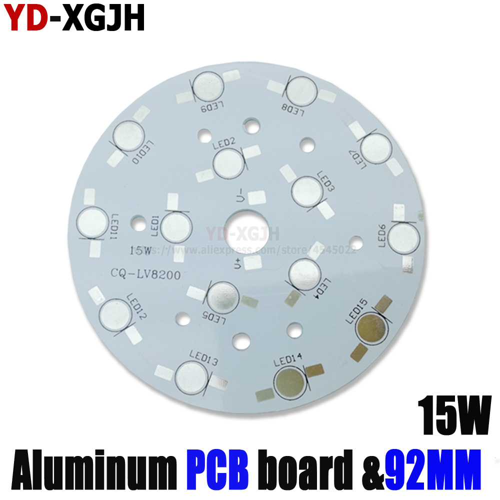 10pcs LED Heat Sink Bulb Lamp Round Rectangle LED PCB DIY Palte Base 15W For 1W 3W HighPower Beads Aluminum Plate For Spotlight