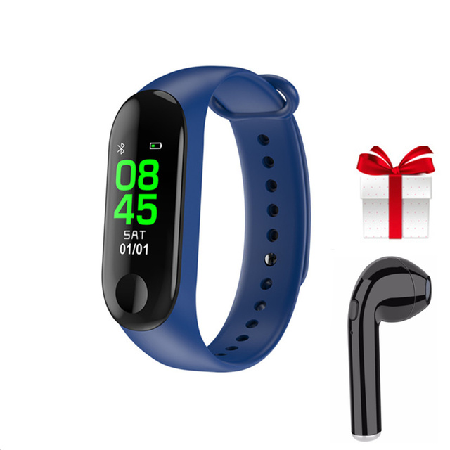 Smart Bracelet+1pcs earphone set  0.96 inch Smartband pedometer Fitness Band for xiaomi mi band 3 huawei band android ios phone
