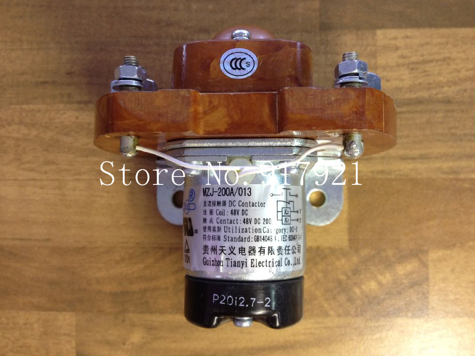 [ZOB] Guizhou Tianyi new MZJ-200A/013 DC contactor relay DC48V200A genuine original  --5pcs/lot new albright dc contactor sw80b 4 sw80 164l for electric forklift 24v 125a