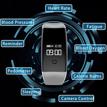 New Heart Rate Monitor Smart Bracelet Wearable Devices Bluetooth Blood Oxygen Wristband with Pedometer Waterproof Smartband