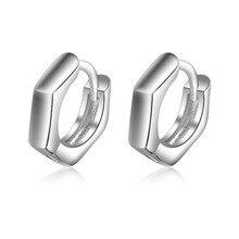 Baby Children 925 Sterling Silver Smooth Round Circle Hoop Earrings For Kids Girls Women Cute Loop Huggies Earring  Jewelry