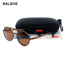 RALIZHE Mens Womens Aluminum Magnesium Female Retro Sunglasses Round Sun glasses Polarized 100% Protection Driver Fishing