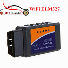 WI-FI ELM327 OBDII автоматический код читателя OBD ELM327 Wi-Fi Беспроводной поддерживает OBD2 протоколы WI-FI ELM 327 для IOS Системы