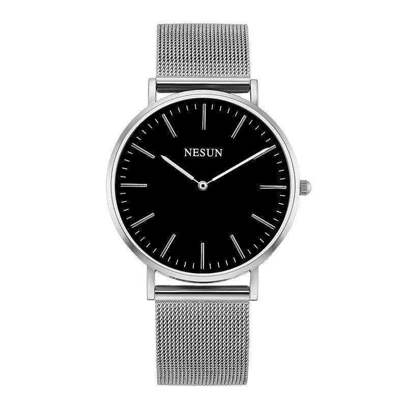 Switzerland Nesun Watch Men & Women Luxury Brand Japan MIYOTA Quartz Movement Lover's Watches Sapphire Waterproof Clock N8801-M2