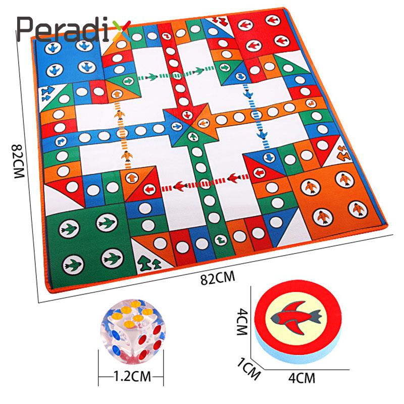 Aeroplane Chess Mat Set Flying Airplane Game Chess Carpet blanket Activity Rug