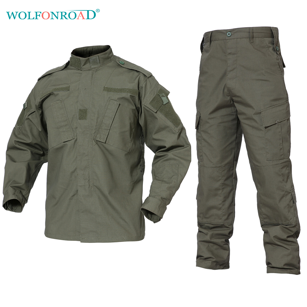 WOLFONROAD Army Green Outdoor Camouflage Uniform Tactical ... - photo#42