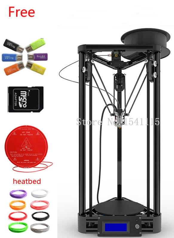 Delta Reprap Rostock Mini Máquina Impresora 3D impressora Kit DIY LCD 2015 Panta