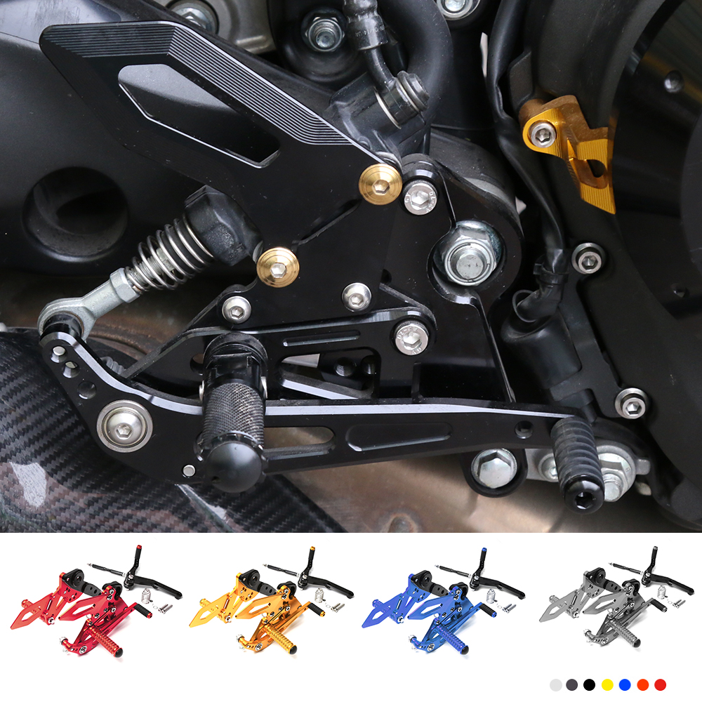 Motorcycle CNC Aluminum Adjustable Rear Sets Rearset Footrest Foot Rest Pegs For Yamaha MT09 FZ09 MT-09 FZ-09 2014-2017 motorcycle cnc adjustable rider rear sets rearset footrest foot rest pegs for ktm duke 125 200 390 2011 2012 2013 2014 2015 2016